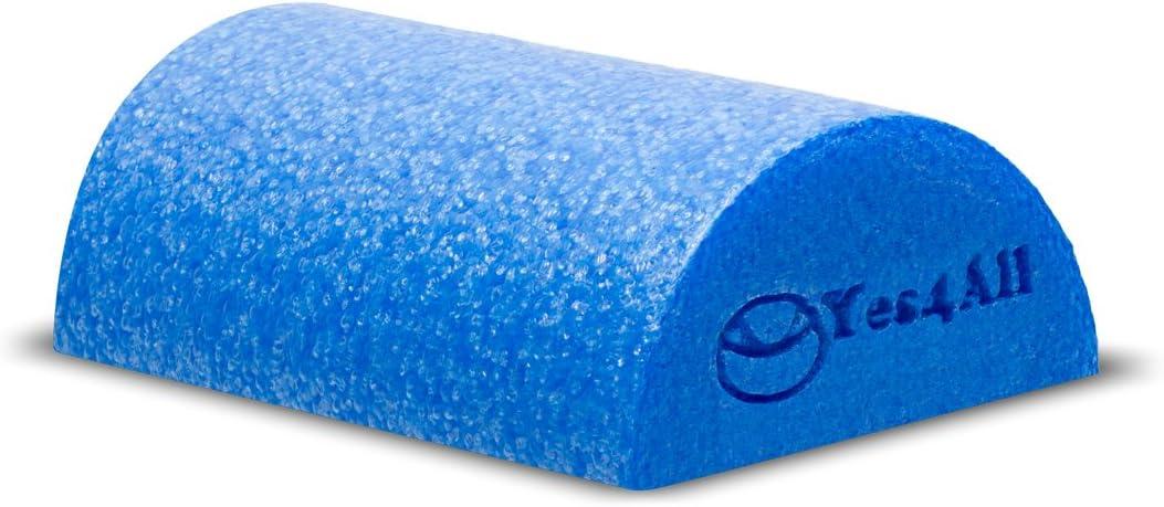 BLUE – HALF ROUND – High Density Foam Roller – 12 x6 – B8CMZ