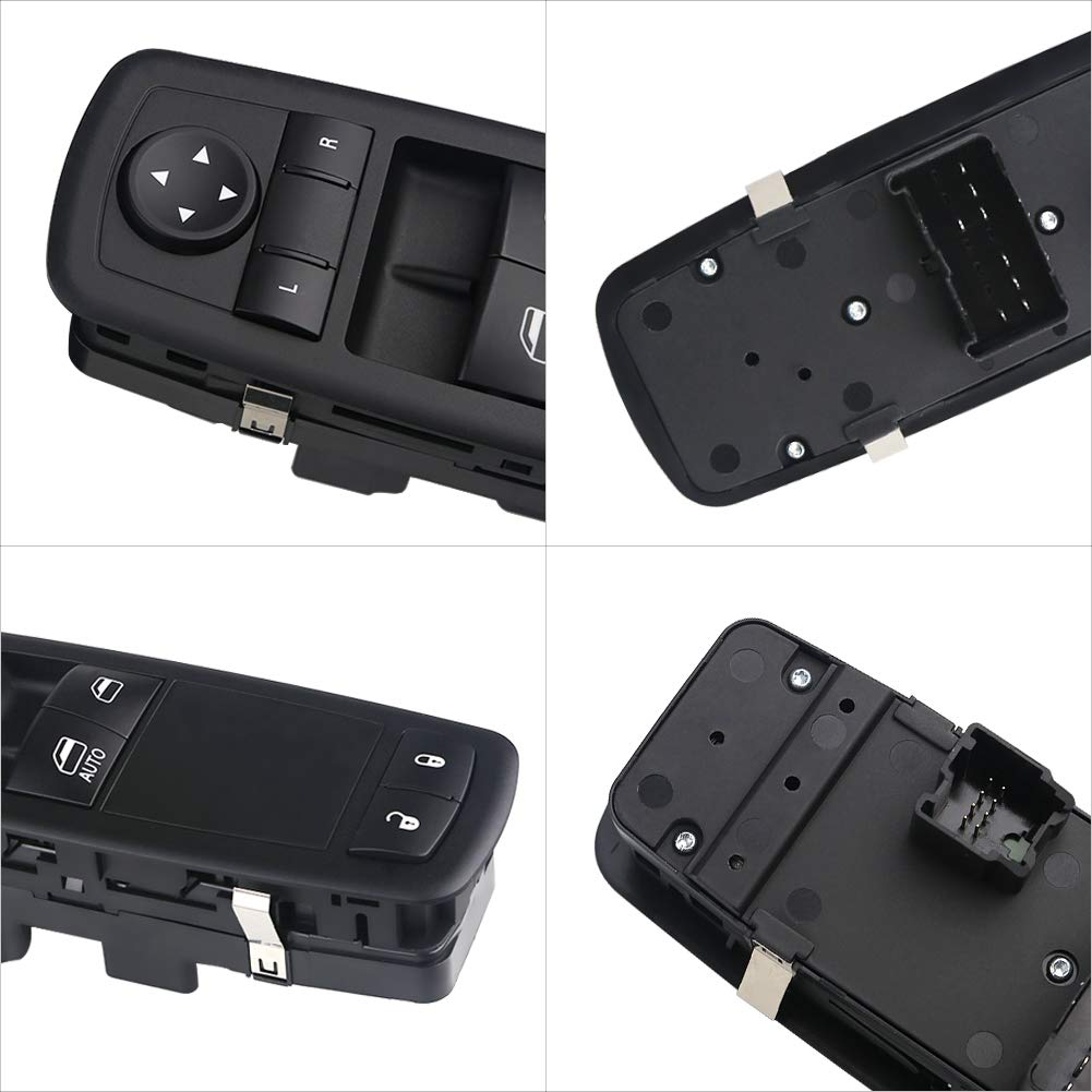 WMPHE Power Window Switch Driver Side Power Window Master Control Switch Fits 2008-2011 Dodge Grand Caravan 2008-2011 Chrysler Town Country Replace 04602627AG
