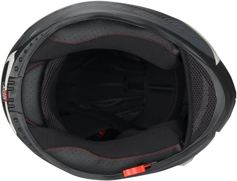 X-Large, Matte White Triangle Full Face Dual Visor Matte Black Street Bike Motorcycle Helmet