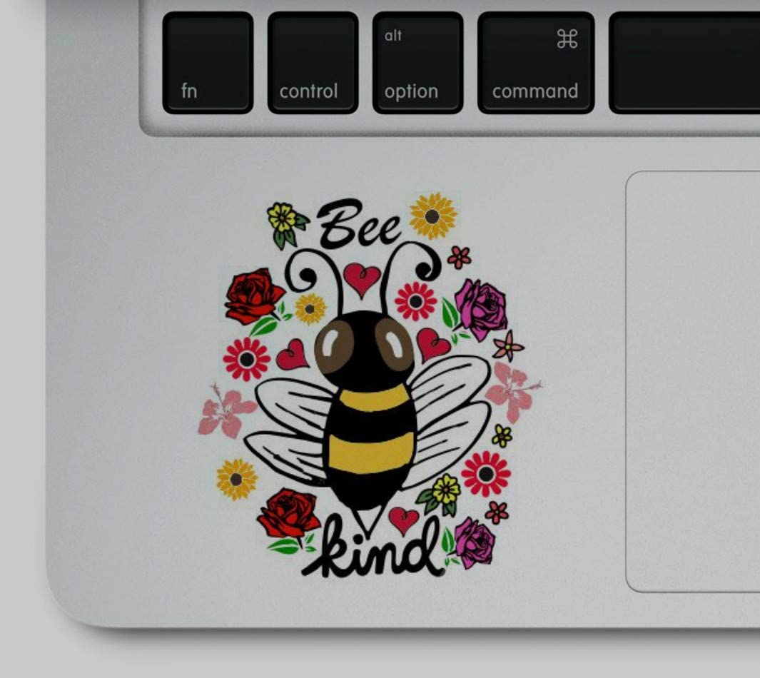 Decal & Sticker Pros Bee Kind Laptop Trackpad Sticker Decal Compatible with All Apple MacBook Air, Pro, Retina and Laptop Trackpads
