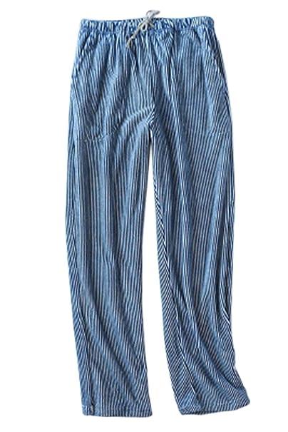 Zinmuwa Pantalones De Pijama De Mujer Ropa De Dormir Rayas Cálidas Cordón De Invierno con Bolsillos: Amazon.es: Ropa y accesorios