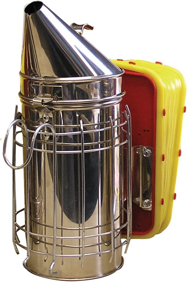 Mann Lake HD555 Stainless Steel Smoker with Guard, 4 by 7-Inch
