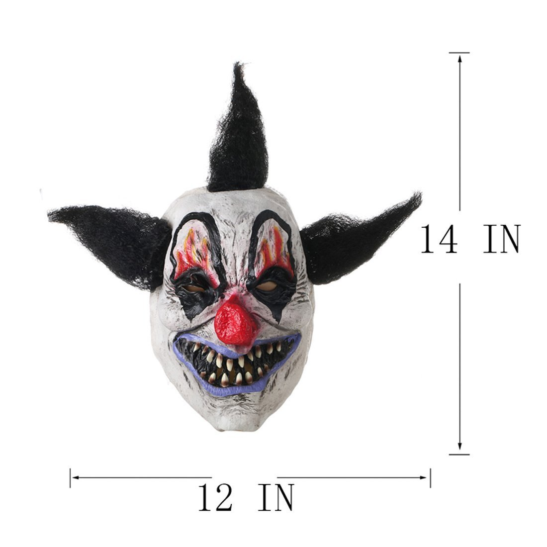 2pcs// Set Scary Clown Mask Halloween Party Costume Decorations Creepy Latex Mask WANHAOSHUIJING CRAFTS MANUFACTURE CO LTD
