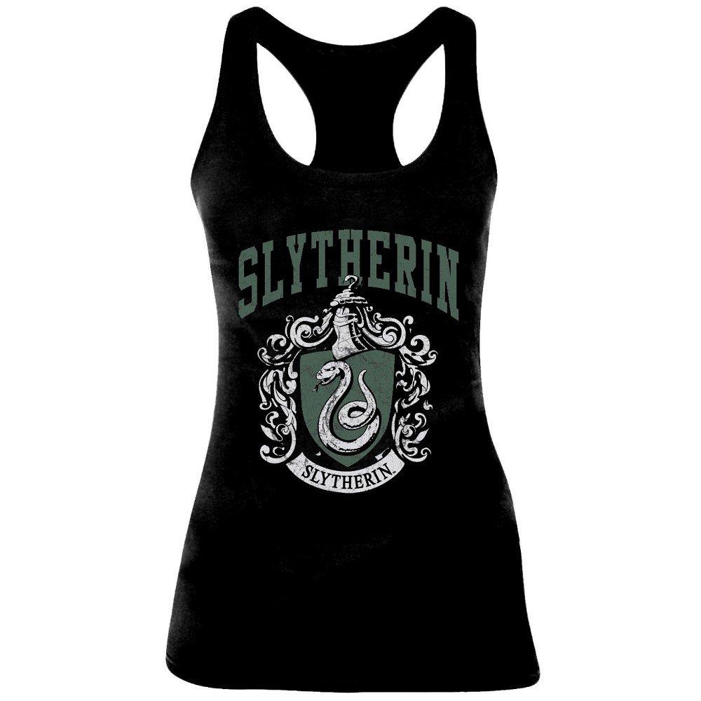 Debardeur Harry Potter femme - Slytherin Old School - Noir Femme - X-Large 1092_5407
