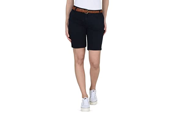 official photos f976b bf89d NAPAPIJRI Damen-Shorts N0YG0R176 NERIDIAN SHORT BLUE: Amazon ...