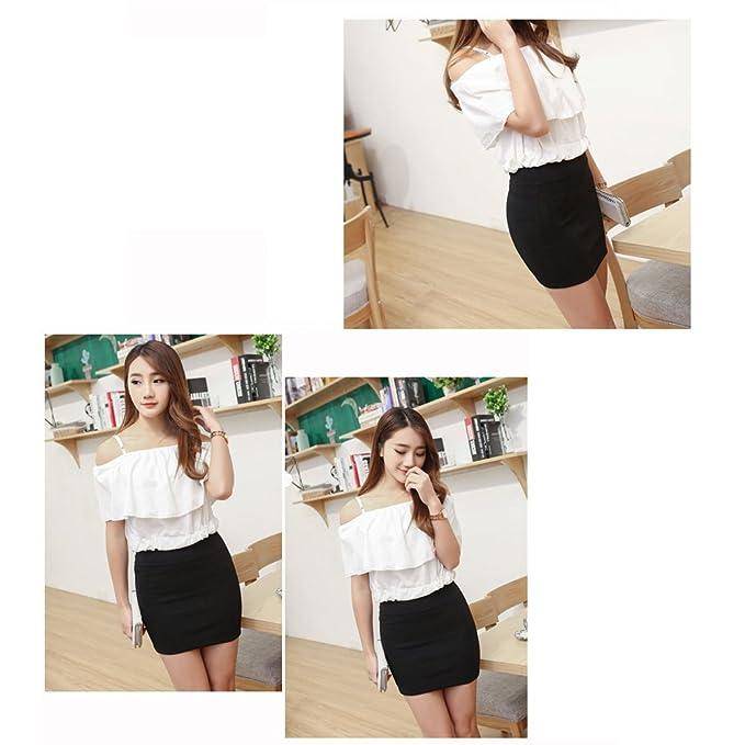 42bea24280d Amazon.com  BOZEVON Women s Short Pencil Skirt Plus Size Solid Color Skirt   Clothing
