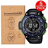 [5-Pack] For Casio SGW-1000/sgw 1000 Watch Screen Protector,Full Coverage Screen Protector for Casio SGW-1000 Watch HD Clear Anti-Bubble and Anti-Scratch