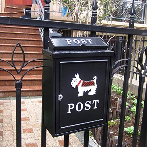 MI ER- Mailbox - Galvanized Sheet, European Pastoral Creative British Outdoor Wall With Lock Rainproof Mailbox, Suitable For Villas, Courtyards, Homes - A Variety Of Patterns Available (Color : ()