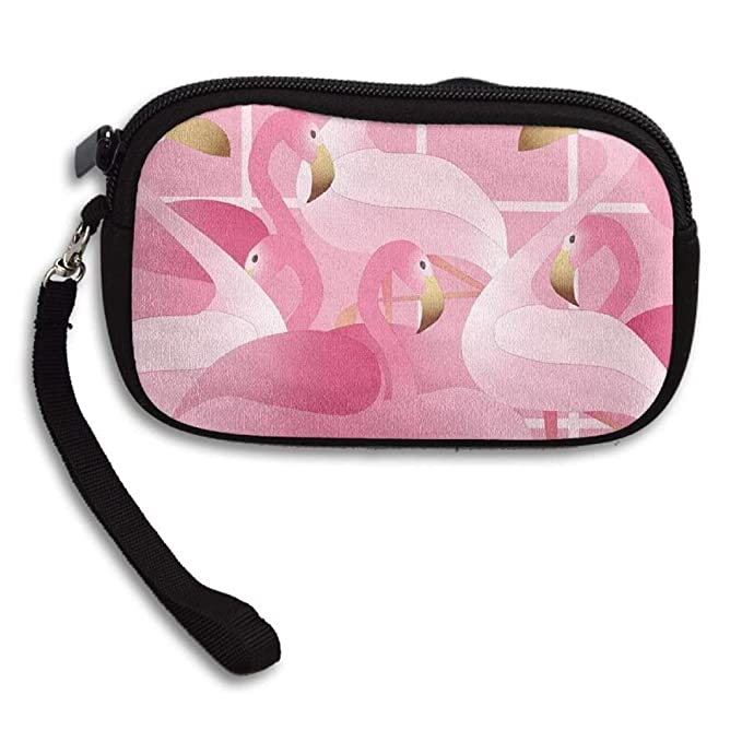 Women//Girls Pink Flamingo Small Purse Zero Wallet