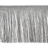 Expo International Etta Metallic Fringe Trim Embellishment, 10-Yard, Silver