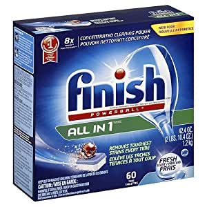 Amazon.com: Finish Powerball Tabs Dishwasher Detergent