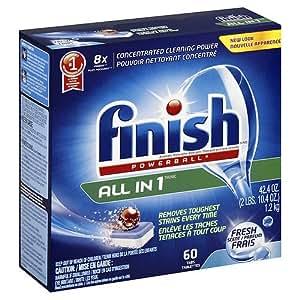 Amazon.com: Finish Powerball Tabs Dishwasher Detergent