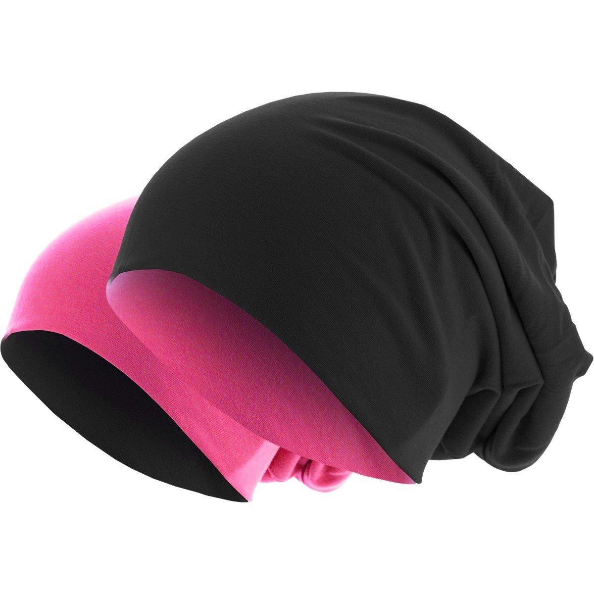 3b08f9bd28c8df Hatstar Slouch Long Beanie 2in1 Reversible Jersey Mütze in 44 Farben  Sommermütze