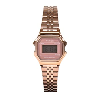 10d6e663d0 TIMEX タイメックス 時計 クラシック デジタル ミニ ローズゴールド ブレス TW2T48300 TW2T48300 F