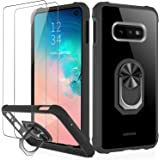 IKAZZ Galaxy S10e Case with Screen Protector,Samsung S10e Cover Crystal Clear Anti-Yellow Shock Absorption Acrylic Protective