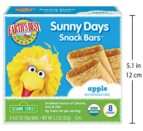 Earth's Best Organic Sunny Day Toddler Snack Bars with Cereal Crust, Made With Real Apples - 8 Count (Pack of 6) by Earth's Best (Image #5)