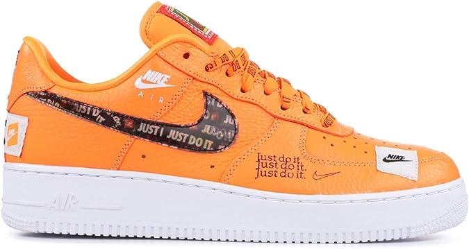 NIKE AIR FORCE 1 Premium Just Do It JDI GS White Orange