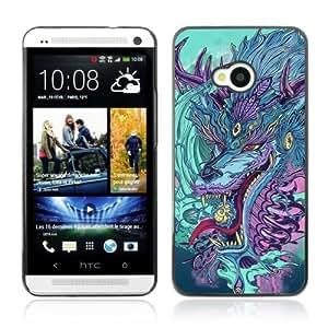 Designer Depo Hard Protection Case for HTC One M7 / Japanese Dragon Monster