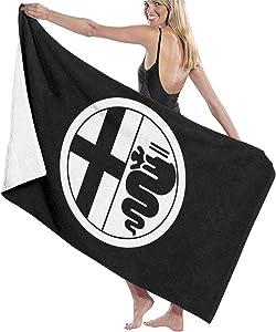 C-JOY Unisex Alfa-Romeo Beach Towels Absorbent Pool Towel Bath Towel Travel Towel Washcloth 31x51 Inches