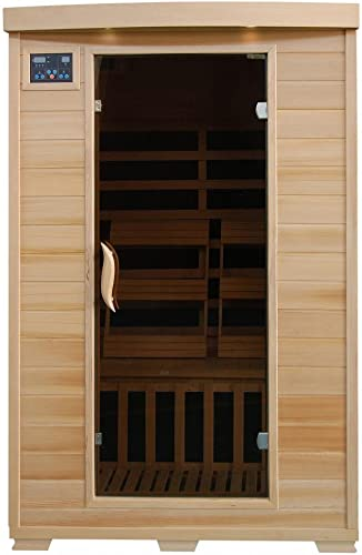 Coronado SA2409 2 Person Sauna with Carbon Heaters Bronze Tinted Tempered Glass Door Oxygen Ionizer CHROMOTHERAPY system Towel Hooks Magazine Racks and Sound System