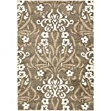 Safavieh Florida Shag Collection SG457-7913 Smoke and Beige Area Rug (11' x 15')