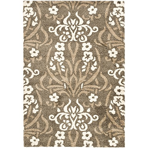 Cheap Safavieh Florida Shag Collection SG457-7913 Smoke and Beige Area Rug (11′ x 15′)