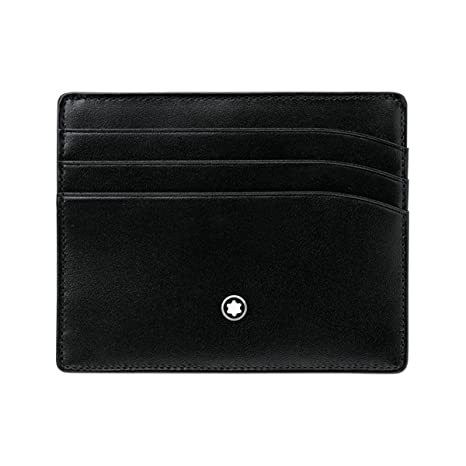 bcc8f35c78 Montblanc Meisterstuck Selection Black Leather Pocket Credit Card Holder  106653: Montblanc: Amazon.ca: Luggage & Bags
