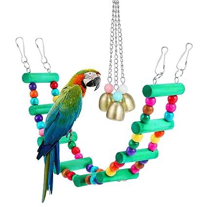 Bird Supplies Clever Pet Bird Toys Chew Parrot Ring Hanging Swing Cage Cockatiel Parakeet Toy Bird Toys
