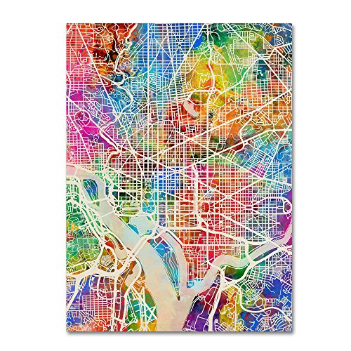 Washington DC Street Map by Michael Tompsett,