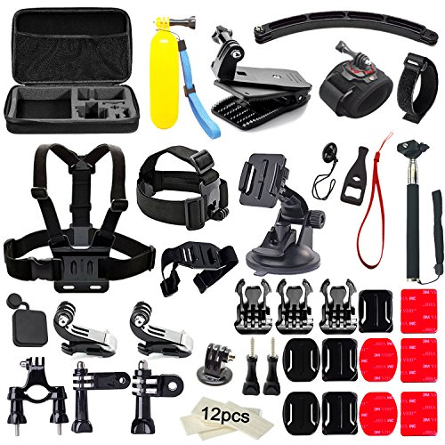 Soft-Digits-50-in-1-Action-Camera-Accessories-Kit-for-GoPro-Hero-5-4-3-3-2-1-with-Carrying-CaseChest-StrapOctopus-Tripod