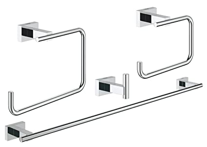 Hervorragend GROHE 40778001 | Essentials Cube 4-in-1 Bathroom Set: Amazon.co.uk HW81