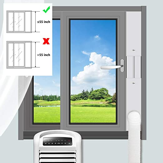 Amazon Com Gulrear Portable Air Conditioner Window Vent Kit Window Slide Kit Plate For Portable Air Conditioner Portable Ac Vent Kit For Exhaust Hose Of 15cm 5 9 Inch Home Kitchen