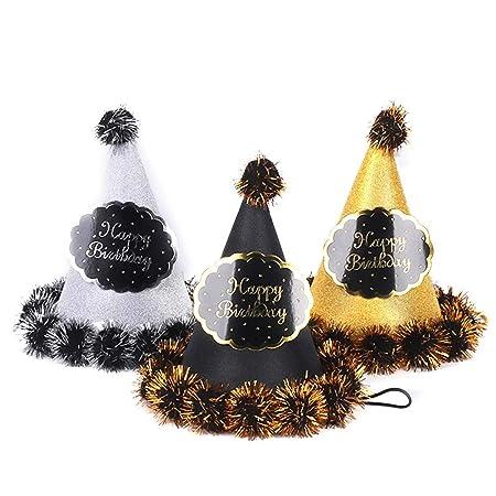 STOBOK Sombreros de Cono con Cuerdas atadas para Cumpleaños ...