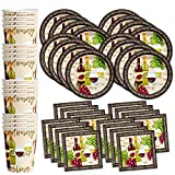 wine themed plates - Wine Birthday Party Supplies Set Plates Napkins Cups Tableware Kit for 16