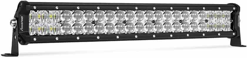 AutoFeel 20 Inch LED Light Bar 12000LM Osram Chip Flood /& Spot Beam Combo Single Row LED Off Road Light Driving Light for Truck ATV SUV Jeep Boat 1 Year Warranty
