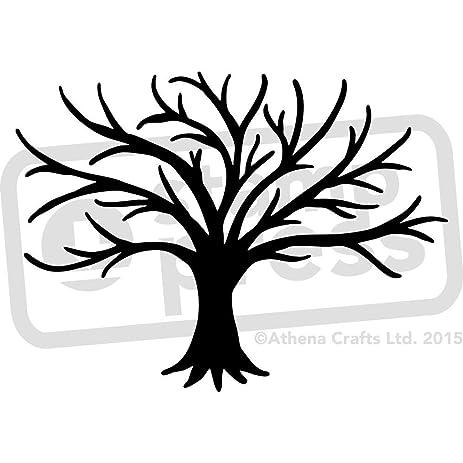 amazon com a5 bare tree silhouette wall stencil template