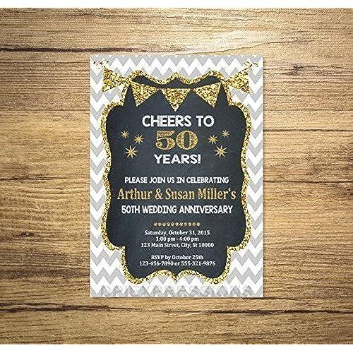 50th Anniversary Invitations: Amazon.com