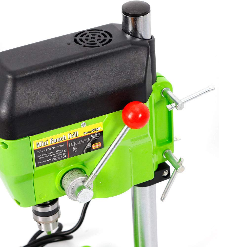 Mini Electric Bench Drill Press Stand Compact Portable Workbench Metal Drilling Repair Tool Expanding Drilling Machine 480W DIY Tool (USA Stock) by SHZICMY (Image #6)