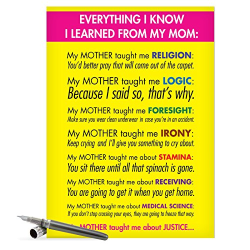 J7208 Jumbo Funny Mother's Day Card: Learned From Mom With Envelope