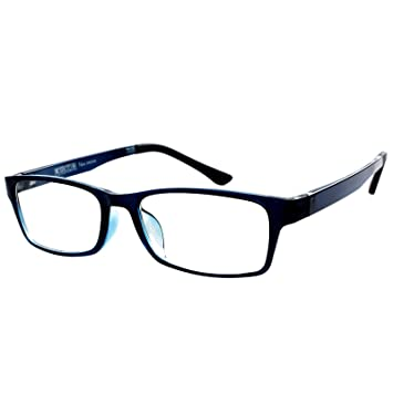660ac1b59b Image Unavailable. Image not available for. Color  Blue Frame Shortsighted  Myopia Distance Glasses ...