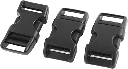 Hard Plastic Backpack Quick Release Buckle 10pcs Black
