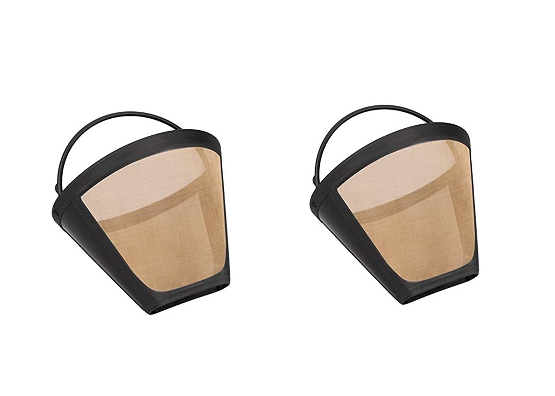 taille 4/lavable r/éutilisable filtres /à caf/é permanent par lot Filtre /à caf/é Dor/é pour Cuisinart 6//à 12/tasses