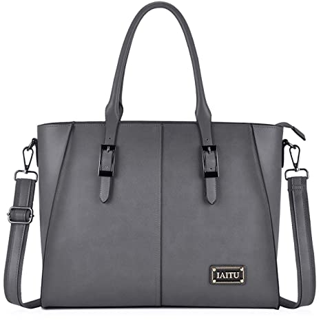 55c0cbc21 Amazon.com: Women Laptop Bag,Large Work Tote Bags with Padded Compartment  Woman Briefcase Designer Laptop Bags 15.6(Gray): Computers & Accessories