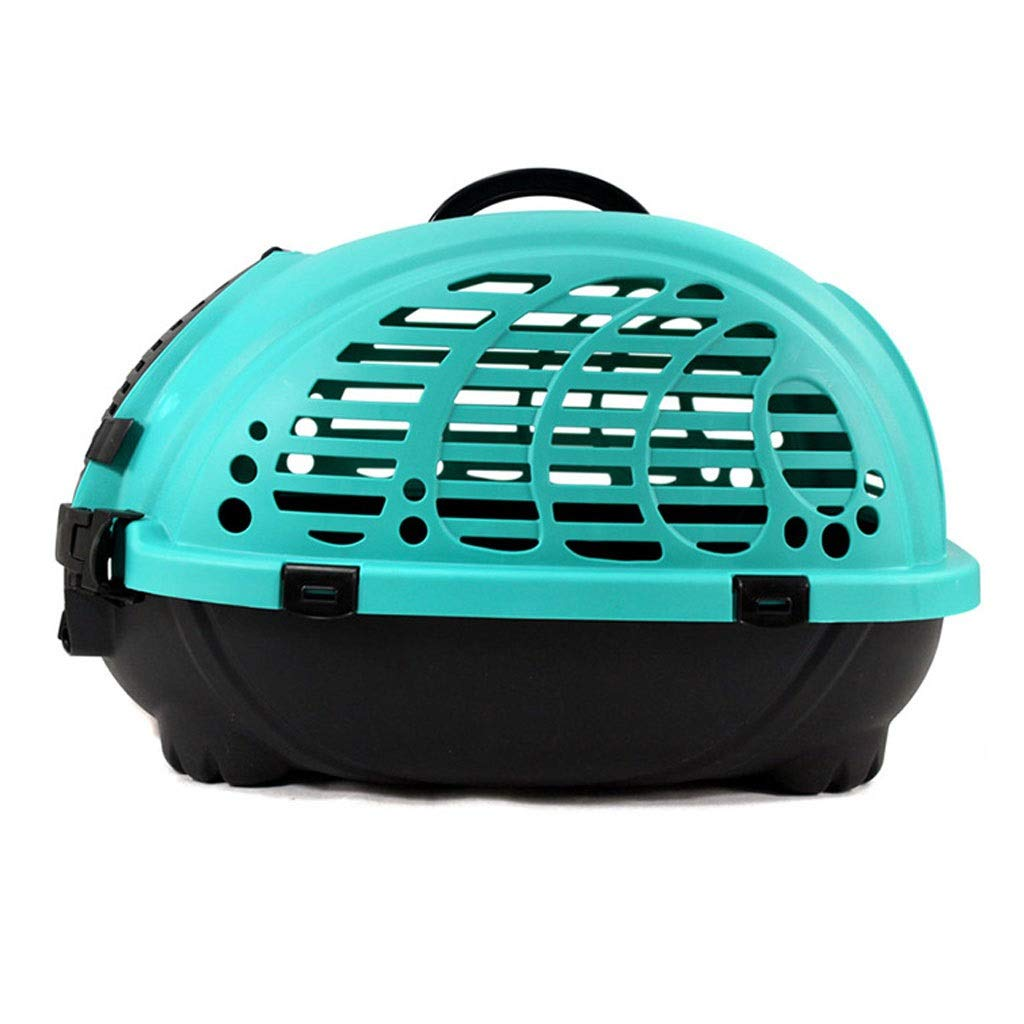 Green 52x40x32cm Green 52x40x32cm MTFZD Pet Transport Box, Tour In Accordance With IATA Aviation Requirements For Transportation Of Live Animals Dog Puppy Cat (color   Green, Size   52x40x32cm)