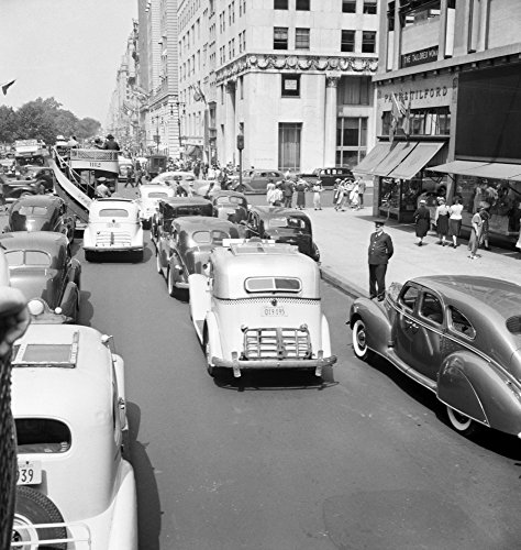 Nyc Fifth Avenue 1939 Ntraffic On 5Th Avenue Near 57Th Street In New York City Photograph By Dorothea Lange July 1939 Poster Print by (24 x ()