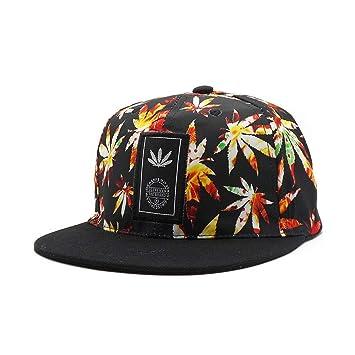 DAMENGXIANG Swag Bones Weed Snapback Caps Amo Weed Snap Back Sombreros Hip Hop Gorra De Béisbol Bone Aba Reta Skate DGK Gorras Cool Man Cap Amarillo: ...
