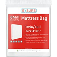 BYSURE 6 Mil Heavy Duty Mattress Bag Moving & Long Term Storage, Fits Twin/Full/Queen/King Size
