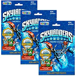 Skylanders Battlecast Micro Comic Collector Pack with Stickers, Posters and More (3 Pack, Skylanders Party Supplies)