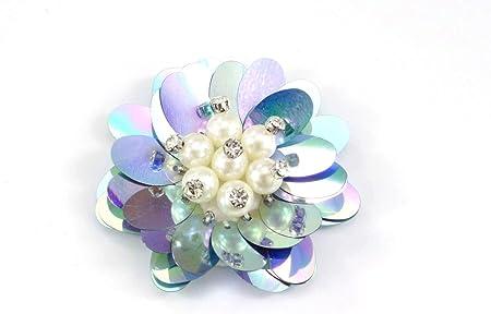 Nähgedöns Parche para Coser, diseño de Flores Azules ...