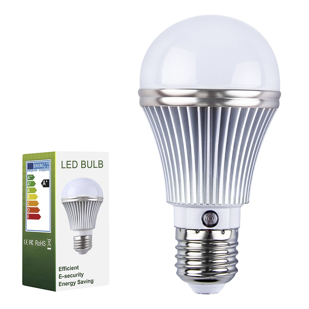 Eleoption E27 LED Light Bulb 5W with Dusk Sensor Integrated Photosensor Detection Automatic switch light Interior Lighting And Exterior Lighting Indoor/Outdoo (Warm White 3000K)